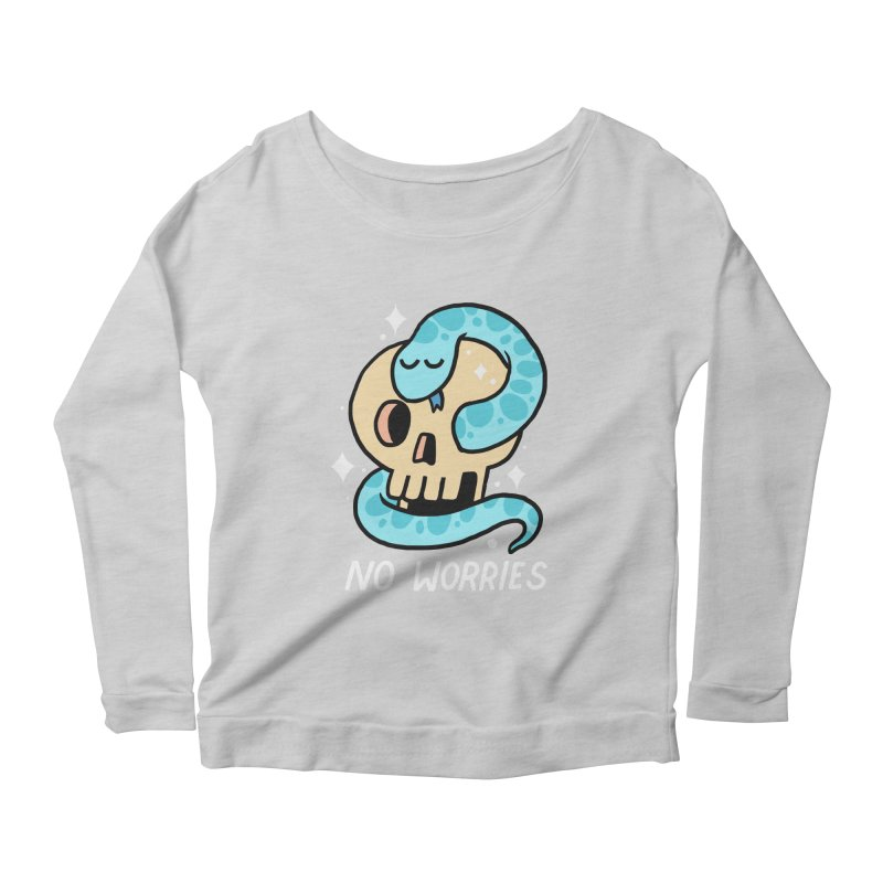 NO WORRIES Women's Longsleeve Scoopneck  by GOOD AND NICE SHIRTS