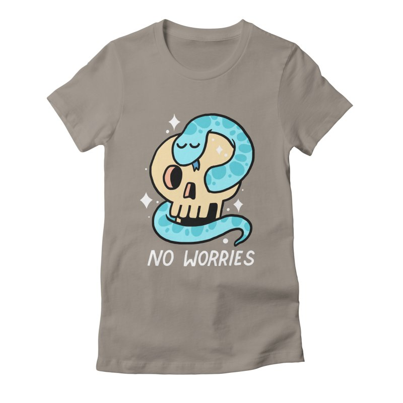 NO WORRIES Women's Fitted T-Shirt by GOOD AND NICE SHIRTS