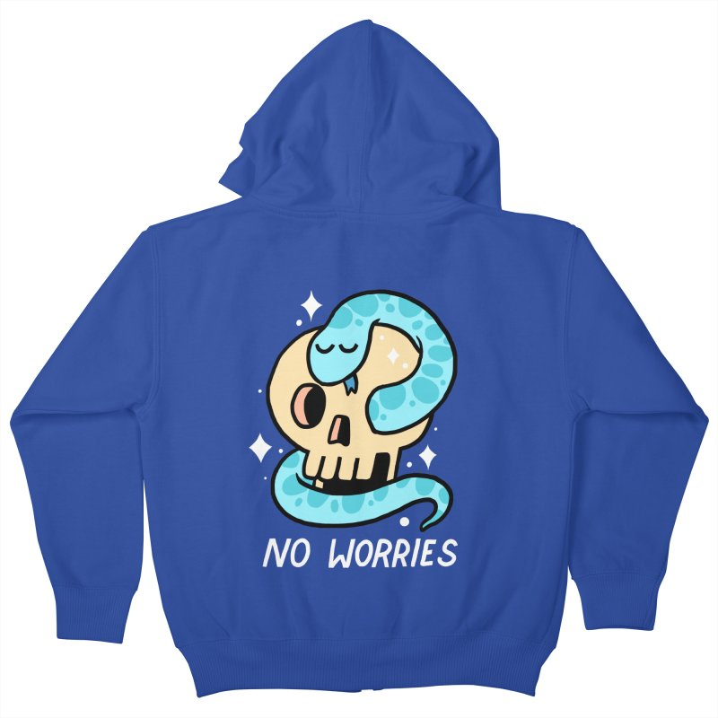NO WORRIES Kids Zip-Up Hoody by GOOD AND NICE SHIRTS