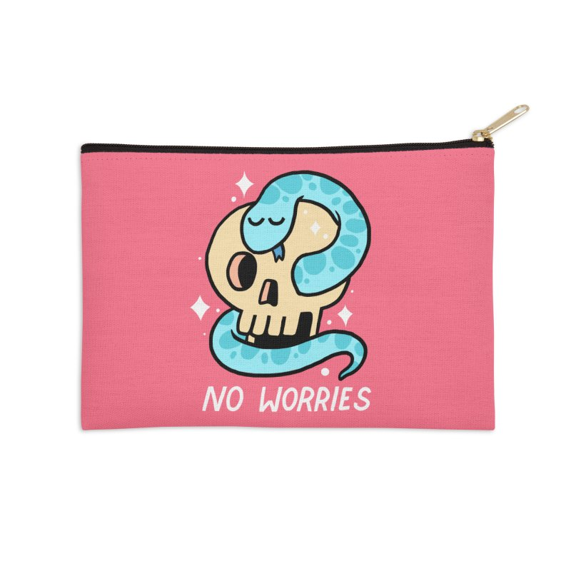 NO WORRIES Accessories Zip Pouch by GOOD AND NICE SHIRTS