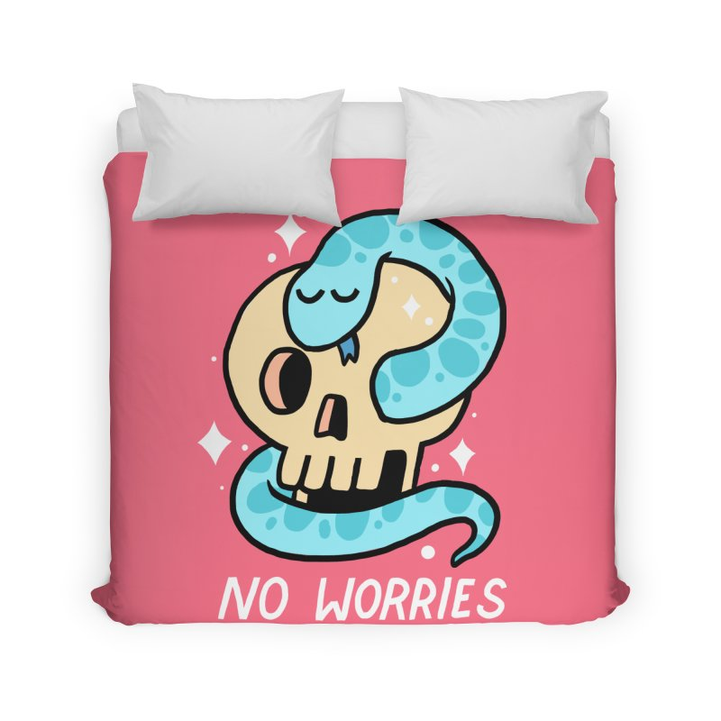 NO WORRIES Home Duvet by GOOD AND NICE SHIRTS