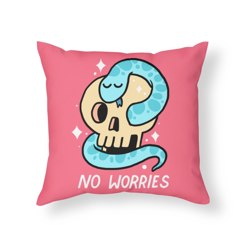 NO WORRIES Home Throw Pillow by GOOD AND NICE SHIRTS