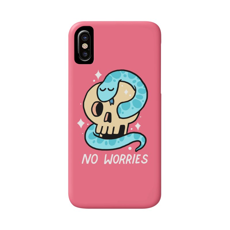 NO WORRIES Accessories Phone Case by GOOD AND NICE SHIRTS