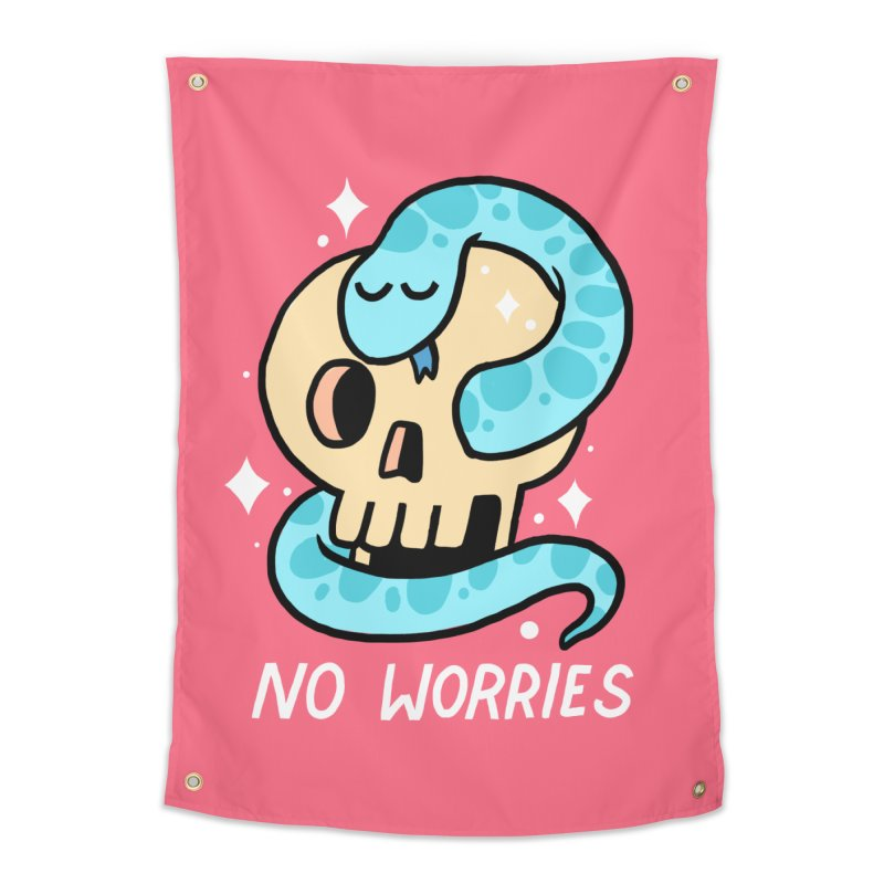 NO WORRIES Home Tapestry by GOOD AND NICE SHIRTS