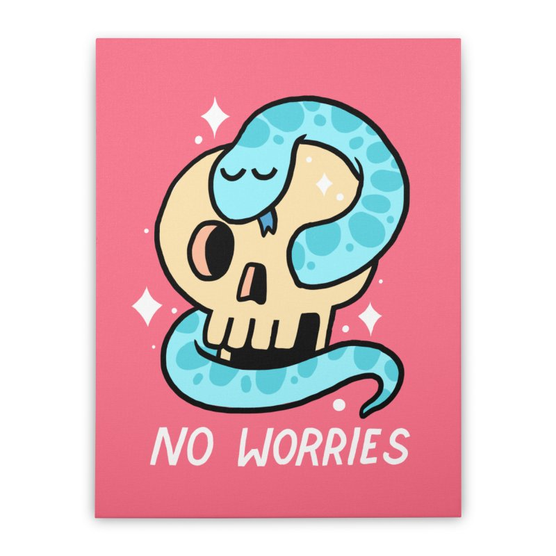NO WORRIES Home Stretched Canvas by GOOD AND NICE SHIRTS