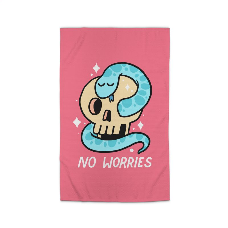 NO WORRIES Home Rug by GOOD AND NICE SHIRTS
