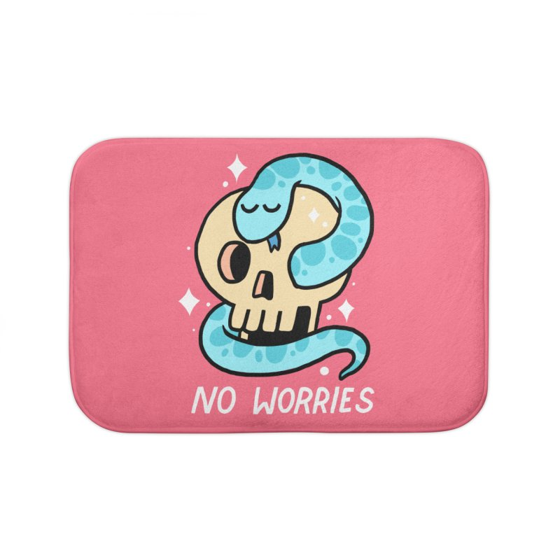 NO WORRIES Home Bath Mat by GOOD AND NICE SHIRTS