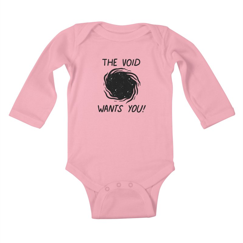 THE VOID Kids Baby Longsleeve Bodysuit by GOOD AND NICE SHIRTS