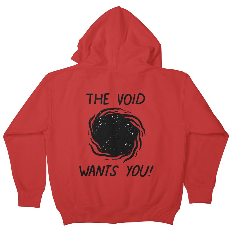 THE VOID Kids Zip-Up Hoody by GOOD AND NICE SHIRTS