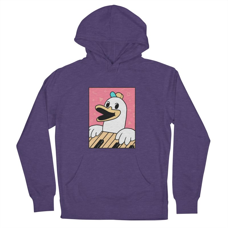 SYNTH DUCK  Men's French Terry Pullover Hoody by GOOD AND NICE SHIRTS