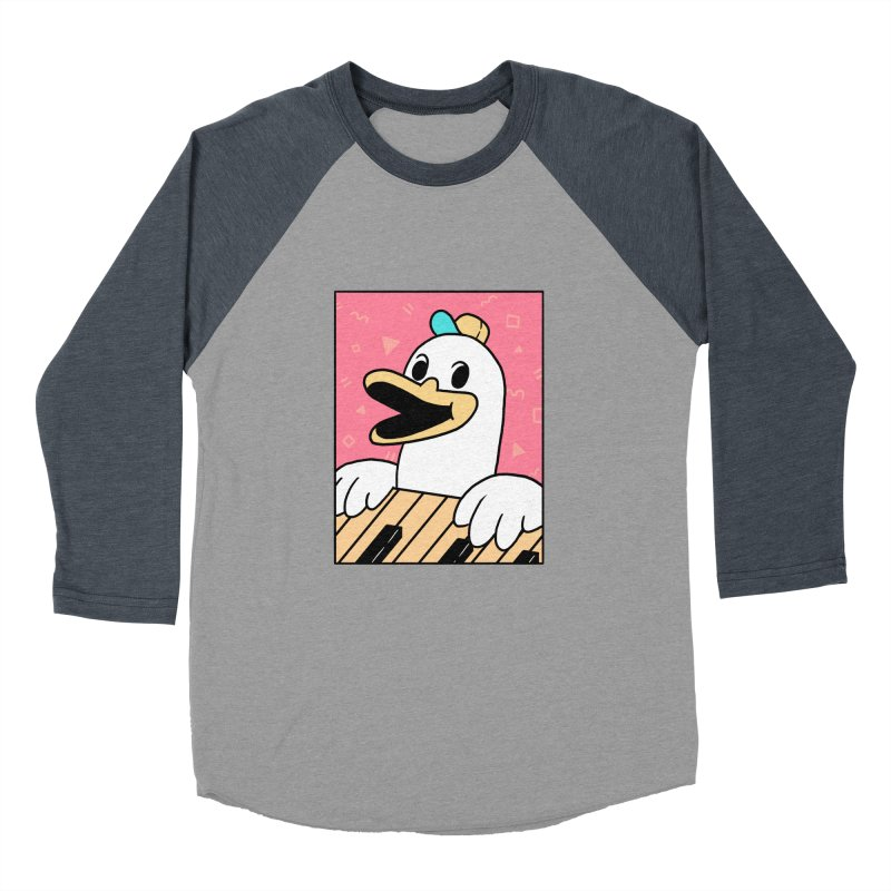 SYNTH DUCK  Women's Baseball Triblend Longsleeve T-Shirt by GOOD AND NICE SHIRTS