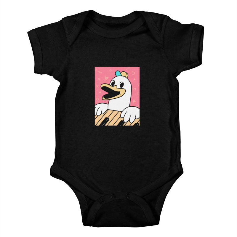 SYNTH DUCK  Kids Baby Bodysuit by GOOD AND NICE SHIRTS