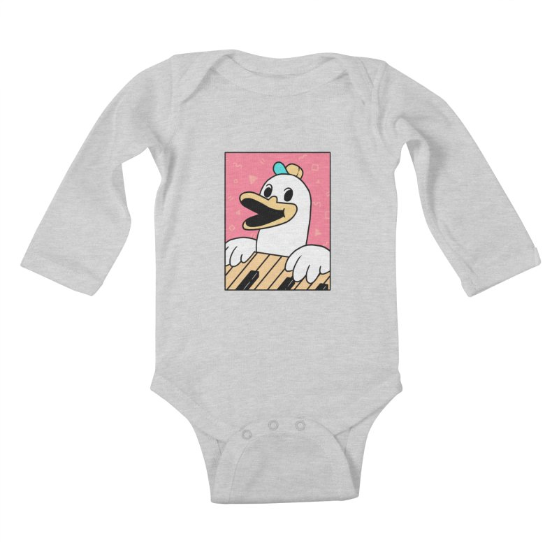 SYNTH DUCK  Kids Baby Longsleeve Bodysuit by GOOD AND NICE SHIRTS
