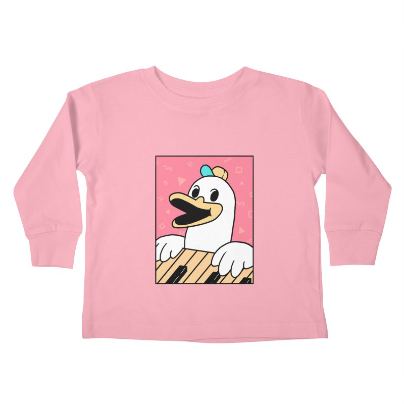 SYNTH DUCK  Kids Toddler Longsleeve T-Shirt by GOOD AND NICE SHIRTS