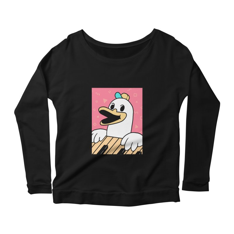 SYNTH DUCK  Women's Longsleeve Scoopneck  by GOOD AND NICE SHIRTS