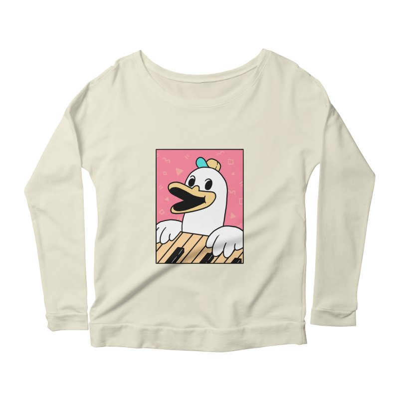 SYNTH DUCK  Women's Scoop Neck Longsleeve T-Shirt by GOOD AND NICE SHIRTS