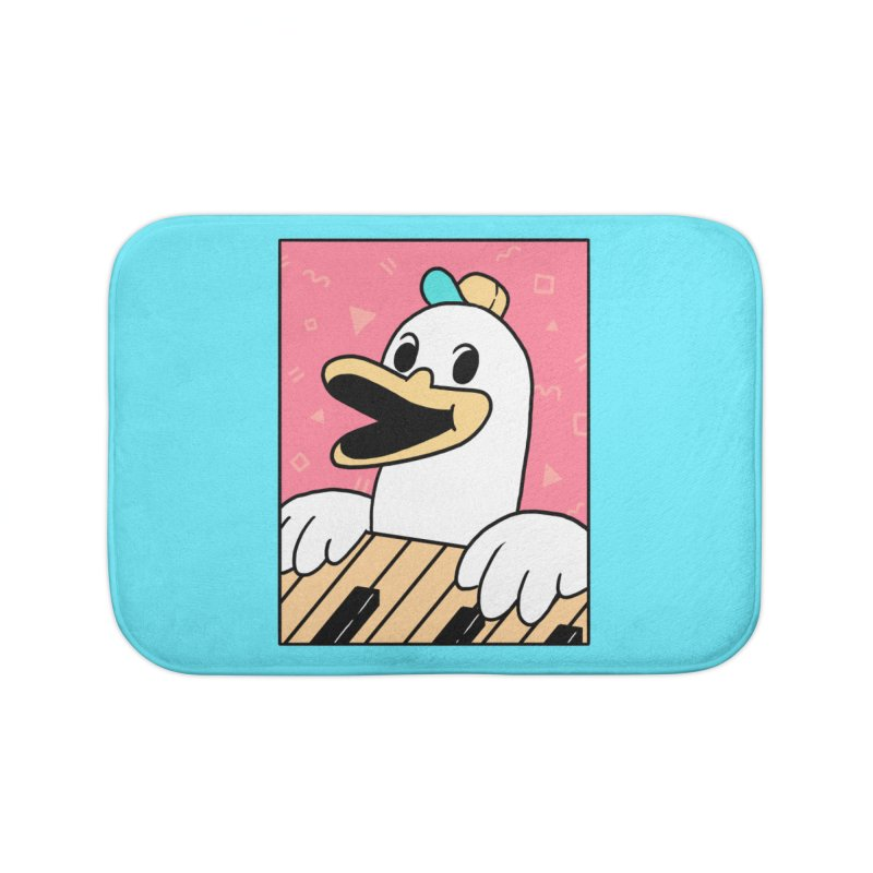SYNTH DUCK  Home Bath Mat by GOOD AND NICE SHIRTS