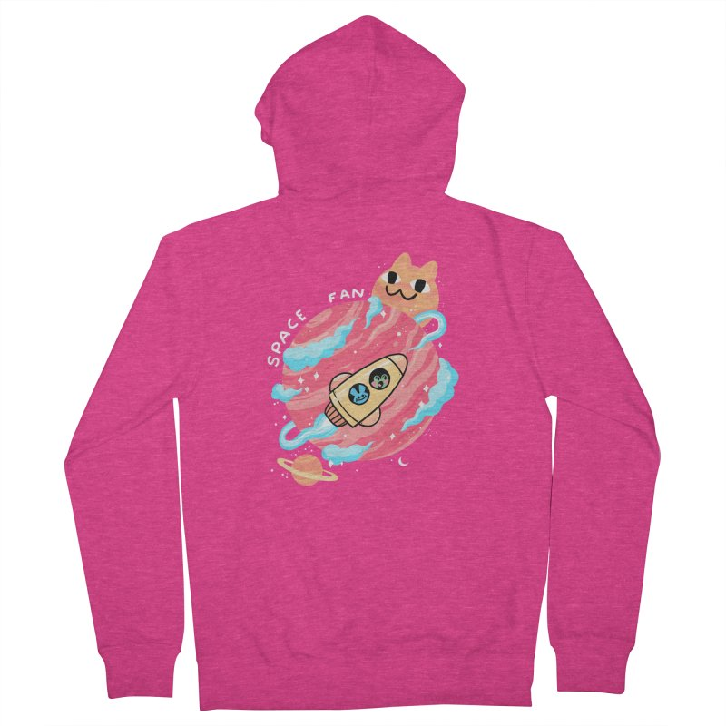 SPACE FAN Women's Zip-Up Hoody by GOOD AND NICE SHIRTS