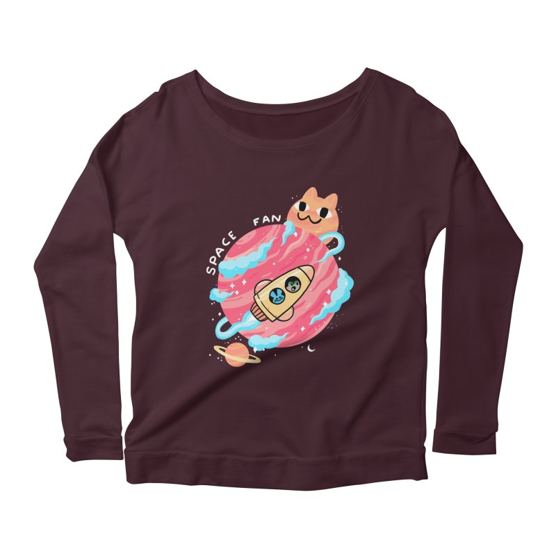 SPACE FAN Women's Scoop Neck Longsleeve T-Shirt by GOOD AND NICE SHIRTS