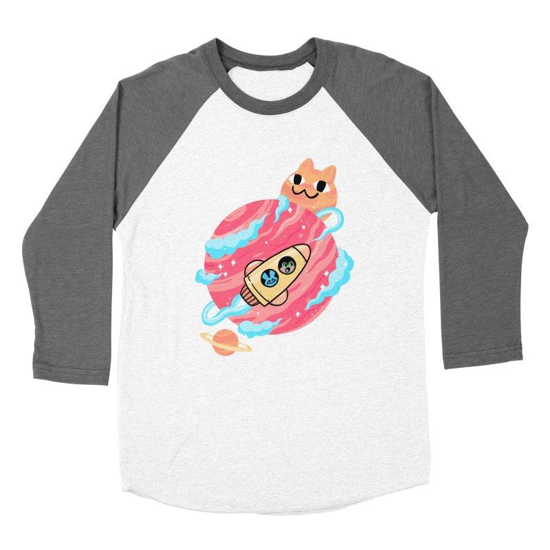 SPACE FAN Women's Baseball Triblend T-Shirt by GOOD AND NICE SHIRTS