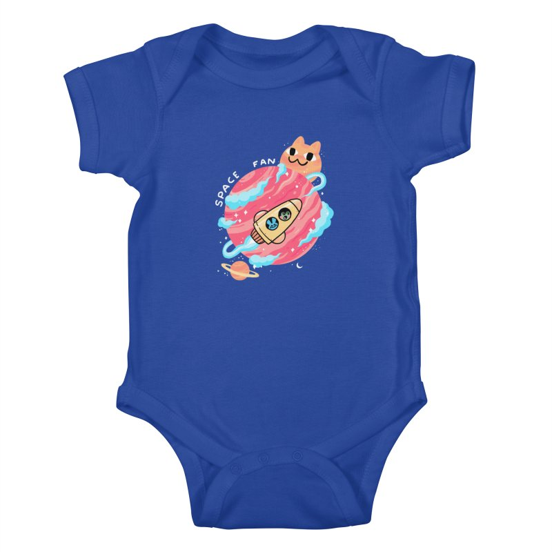 SPACE FAN Kids Baby Bodysuit by GOOD AND NICE SHIRTS
