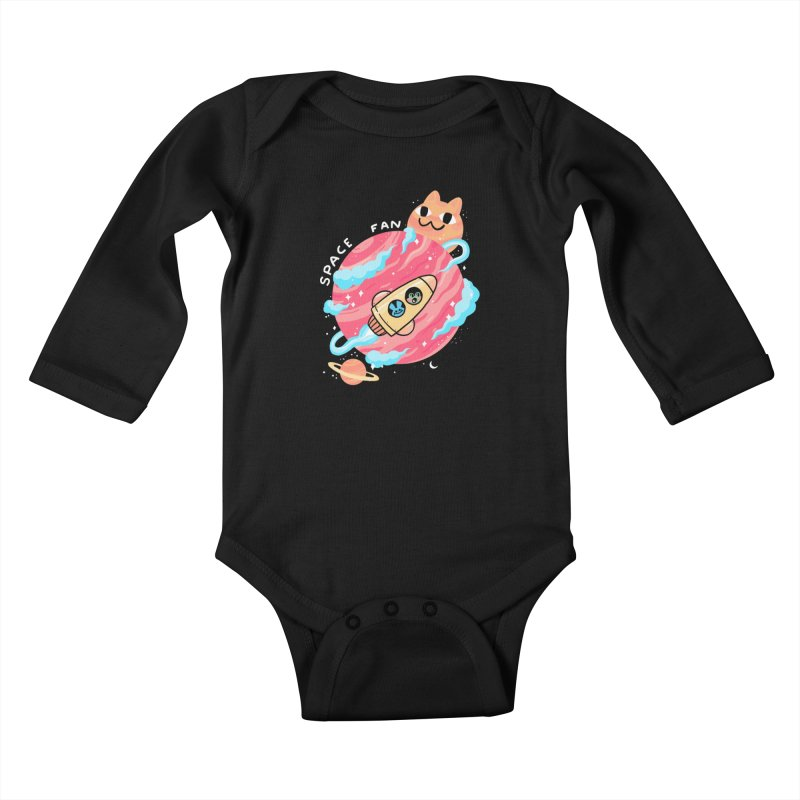 SPACE FAN Kids Baby Longsleeve Bodysuit by GOOD AND NICE SHIRTS