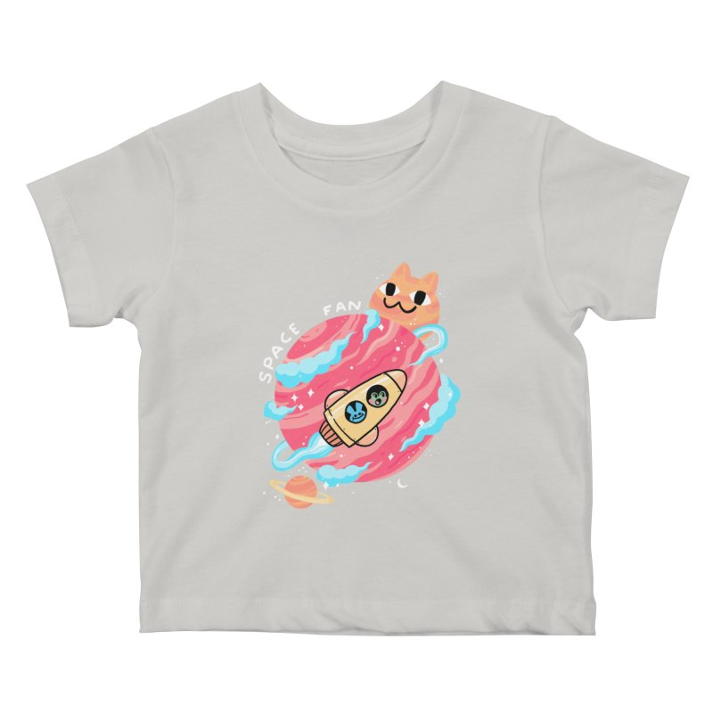 SPACE FAN Kids Baby T-Shirt by GOOD AND NICE SHIRTS