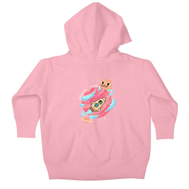 SPACE FAN Kids Baby Zip-Up Hoody by GOOD AND NICE SHIRTS