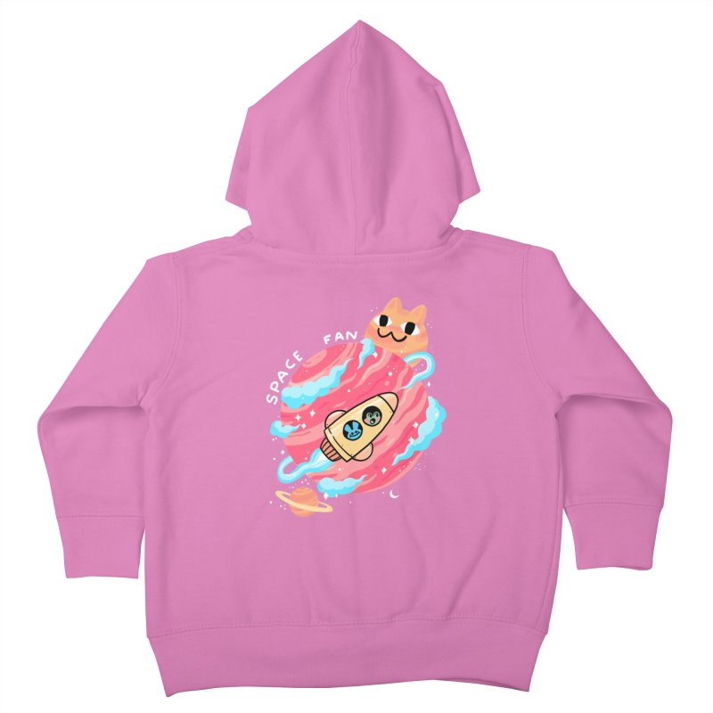 SPACE FAN Kids Toddler Zip-Up Hoody by GOOD AND NICE SHIRTS