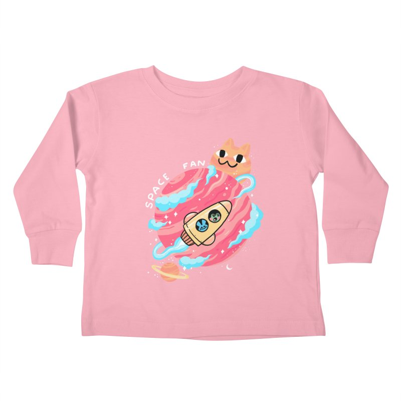 SPACE FAN Kids Toddler Longsleeve T-Shirt by GOOD AND NICE SHIRTS