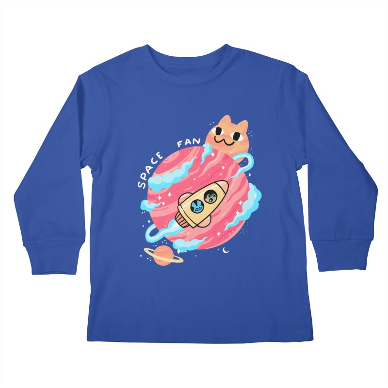 SPACE FAN Kids Longsleeve T-Shirt by GOOD AND NICE SHIRTS