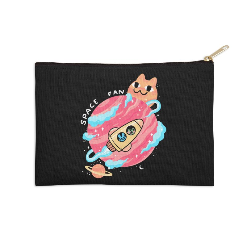 SPACE FAN Accessories Zip Pouch by GOOD AND NICE SHIRTS