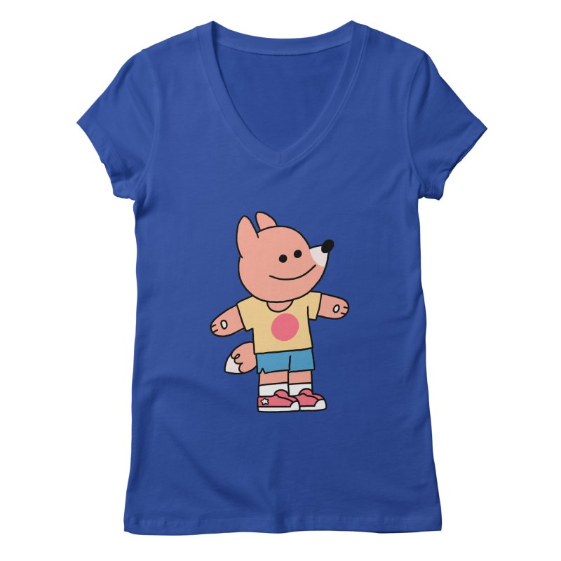 LET LIFE WASH OVER YOU Women's V-Neck by GOOD AND NICE SHIRTS