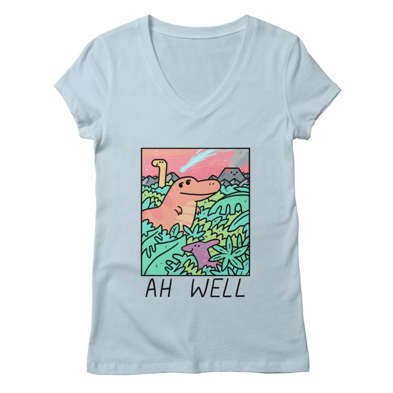 AH WELL Women's Regular V-Neck by GOOD AND NICE SHIRTS