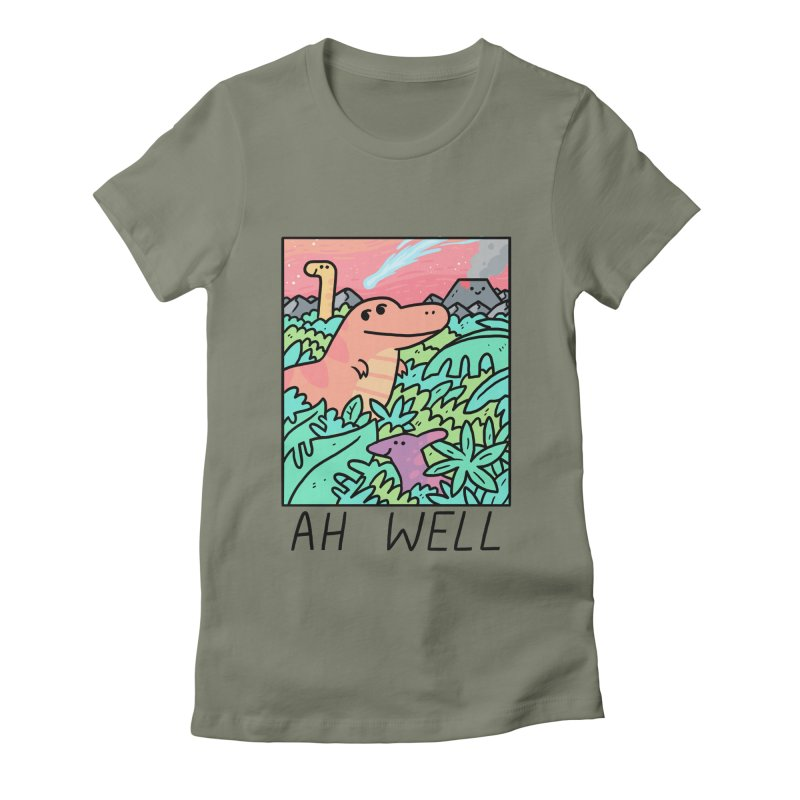 AH WELL Women's Fitted T-Shirt by GOOD AND NICE SHIRTS