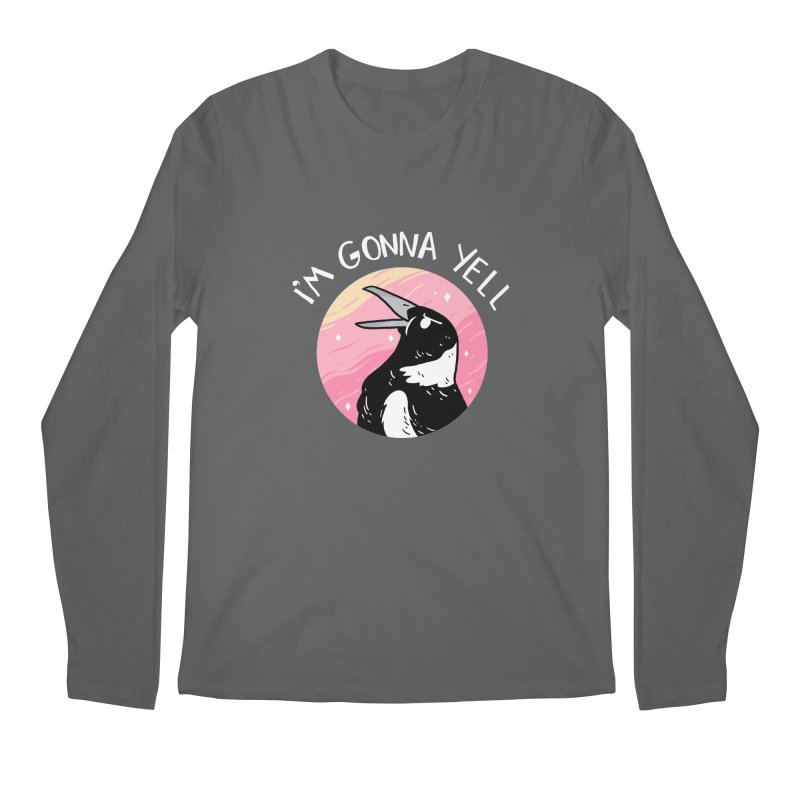 I'M GONNA YELL Men's Regular Longsleeve T-Shirt by GOOD AND NICE SHIRTS