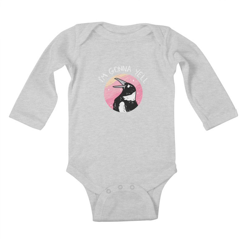 I'M GONNA YELL Kids Baby Longsleeve Bodysuit by GOOD AND NICE SHIRTS