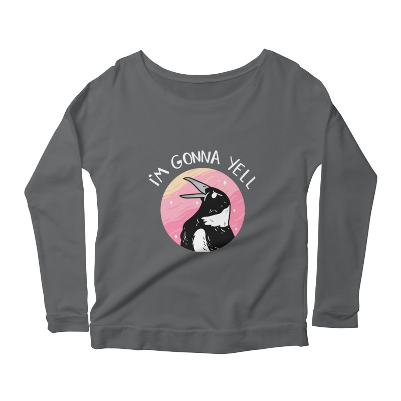 I'M GONNA YELL Women's Longsleeve Scoopneck  by GOOD AND NICE SHIRTS