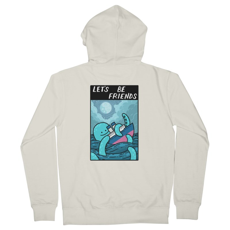 LET'S BE FRIENDS Women's Zip-Up Hoody by GOOD AND NICE SHIRTS