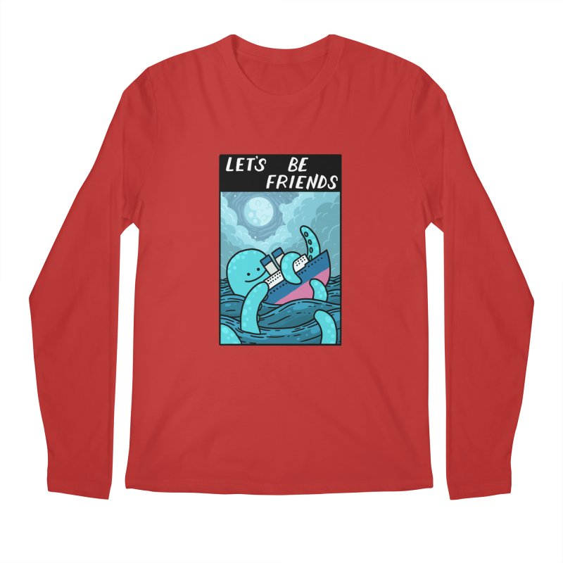 LET'S BE FRIENDS Men's Regular Longsleeve T-Shirt by GOOD AND NICE SHIRTS