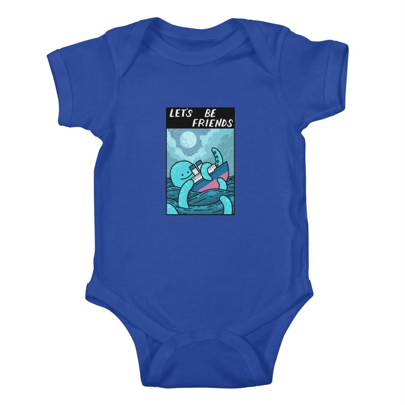 LET'S BE FRIENDS Kids Baby Bodysuit by GOOD AND NICE SHIRTS