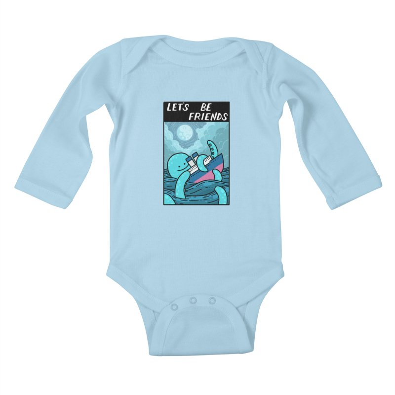 LET'S BE FRIENDS Kids Baby Longsleeve Bodysuit by GOOD AND NICE SHIRTS