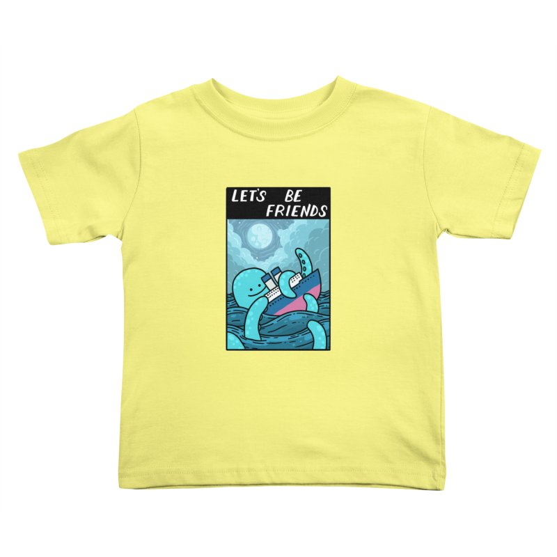 LET'S BE FRIENDS Kids Toddler T-Shirt by GOOD AND NICE SHIRTS