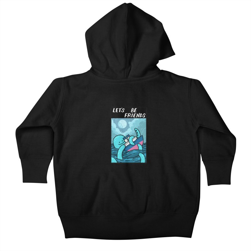 LET'S BE FRIENDS Kids Baby Zip-Up Hoody by GOOD AND NICE SHIRTS