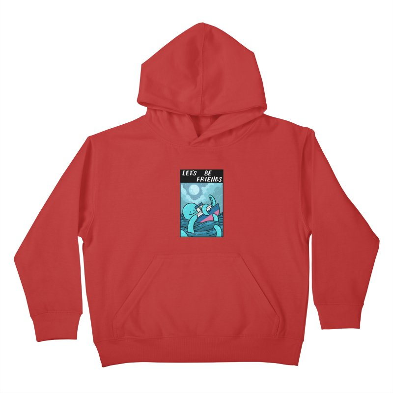 LET'S BE FRIENDS Kids Pullover Hoody by GOOD AND NICE SHIRTS