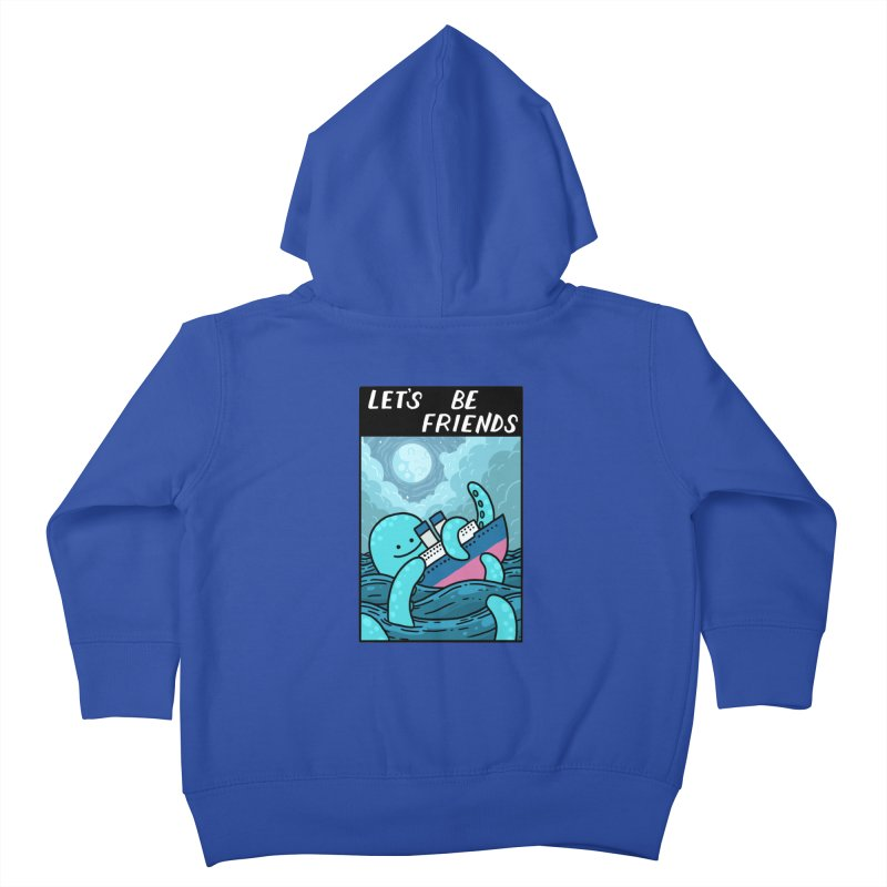 LET'S BE FRIENDS Kids Toddler Zip-Up Hoody by GOOD AND NICE SHIRTS