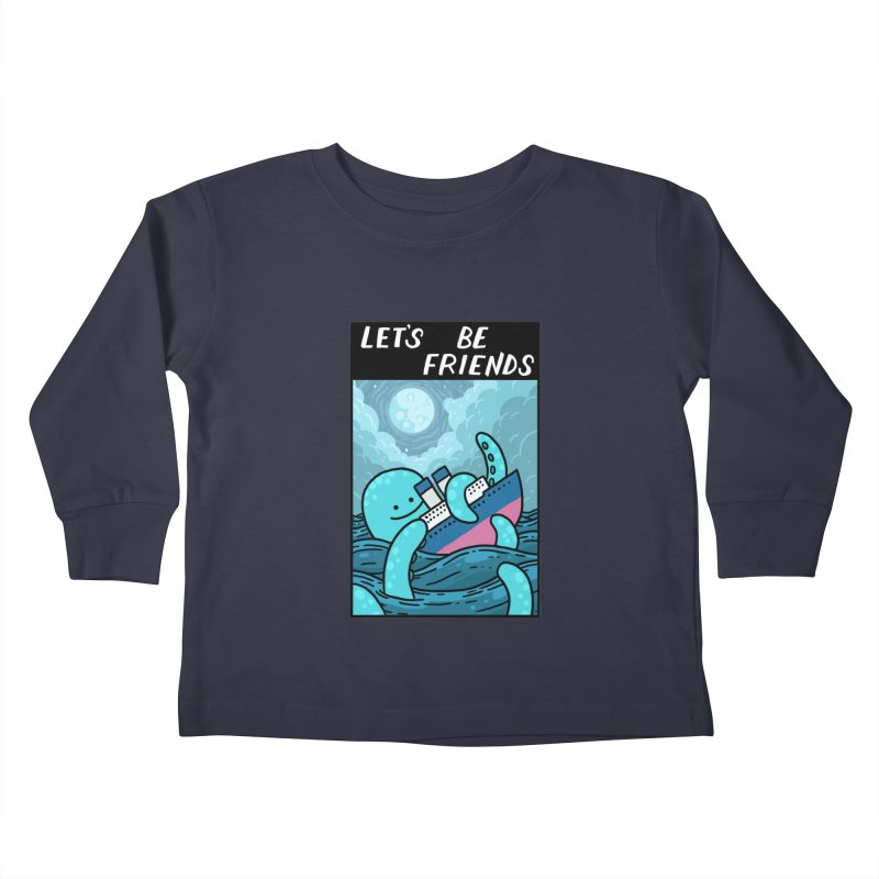 LET'S BE FRIENDS Kids Toddler Longsleeve T-Shirt by GOOD AND NICE SHIRTS
