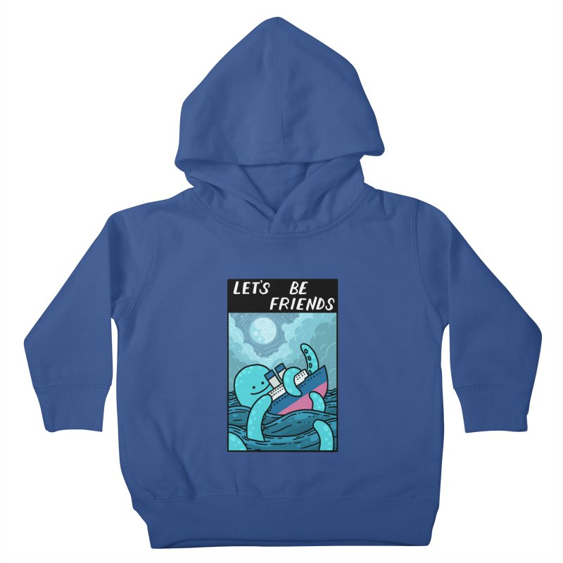 LET'S BE FRIENDS Kids Toddler Pullover Hoody by GOOD AND NICE SHIRTS
