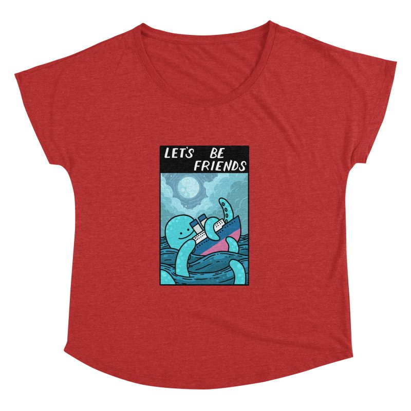 LET'S BE FRIENDS Women's Dolman Scoop Neck by GOOD AND NICE SHIRTS