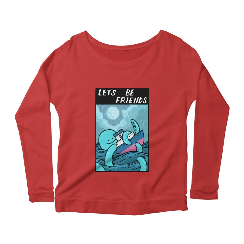 LET'S BE FRIENDS Women's Scoop Neck Longsleeve T-Shirt by GOOD AND NICE SHIRTS